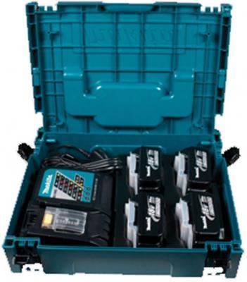 Набор Makita аккумулятор + зарядное устройсво + кейс 198312-4 makita hr2460 кейс