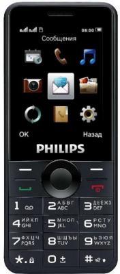 Мобильный телефон Philips Xenium E168 черный 2.4 мобильный телефон philips xenium e103