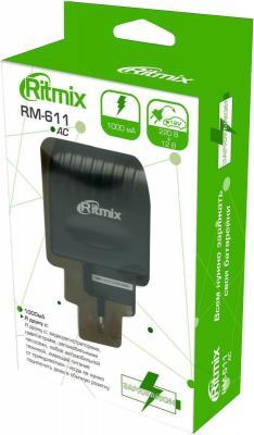 Сетевое зарядное устройство Ritmix RM-611 1A черный ritmix rm 118 сетевое зарядное устройство