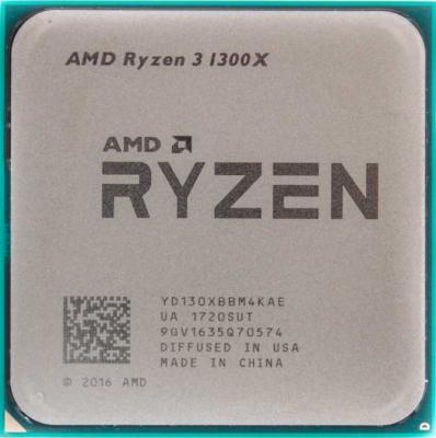 Процессор AMD Ryzen X4 R3-1300X YD130XBBM4KAE Socket AM4 OEM процессор amd процессор amd ryzen 3 1300x am4 box