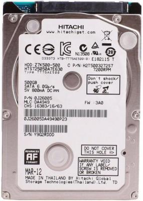 "Жесткий диск для ноутбука 2.5"" 500Gb 7200rpm 32Mb cache Hitachi Travelstar Z7K500.B 1W10098"