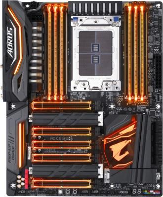 Мат. плата для ПК GigaByte X399 AORUS GAMING 7 Socket TR4 AMD X399 8xDDR4 5xPCI-E 16x 8xSATAIII ATX Retail материнская плата asus x99 ws ipmi socket 2011 3 x99 8xddr4 5xpci e 16x 8xsataiii atx retail