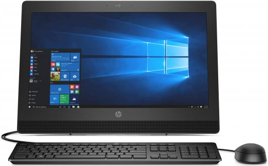 Моноблок 20 HP ProOne 400 G3 AiO 1600 x 900 Intel Core i3-7100T 4Gb 1 Tb Intel HD Graphics 630 DOS черный 2KL17EA моноблок lenovo ideacentre aio 520 24iku ms silver f0d2003urk intel core i5 7200u 2 5 ghz 8192mb 1000gb dvd rw intel hd graphics wi fi bluetooth cam 23 8 1920x1080 dos