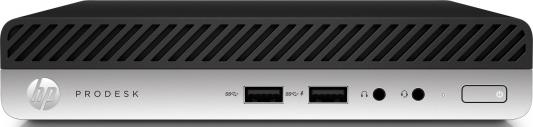 Неттоп HP EliteDesk 800 G3 Mini Intel Core i7-7700T 8Gb SSD 256 Intel HD Graphics 630 Windows 10 Professional черный серебристый 1CB55EA