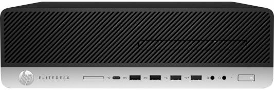 Системный блок HP EliteDesk 800 G3 SFF i7-7700 3.6GHz 4Gb 500Gb HD630 DVD-RW Win10Pro серебристо-черный Z4D07EA