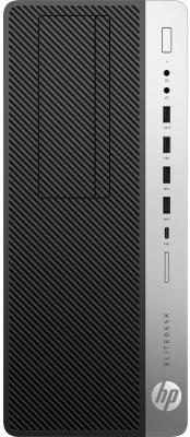 Системный блок HP EliteDesk 800 G3 TWR i5-7500 3.4GHz 4Gb 500Gb HD630 DVD-RW Win10Pro серебристо-черный 1HK29EA