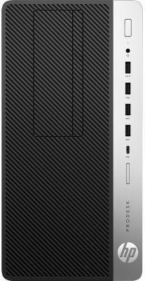 Системный блок HP ProDesk 600 G3 i5-7500 3.4GHz 4Gb 500Gb HD630 DVD-RW Win10Pro серебристо-черный 1HK62EA компьютер hp prodesk 400 g4 intel core i5 7500 ddr4 8гб 1000гб intel hd graphics 630 dvd rw windows 10 professional черный [1jj50ea]