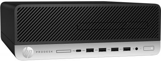 Системный блок HP ProDesk 600 G3 SFF i5-7500 3.4GHz 4Gb 500Gb DVD-RW Win10Pro серебристо-черный 1KB33EA