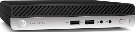 Неттоп HP ProDesk 600G3 Mini Intel Core i3-6100T 4Gb 500Gb Intel HD Graphics 530 Windows 7 Professional + Windows 10 Professional черный серебристый 1HK86EA ноутбук hp 15 bs027ur 1zj93ea core i3 6006u 4gb 500gb 15 6 dvd dos black