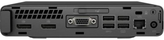 Компьютер HP 600G3 Mini Intel Core i5-7500T 32Gb 1Tb Intel HD Graphics 630 Windows 10 Professional черный серебристый 1CB73EA