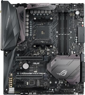 Мат. плата для ПК ASUS ROG CROSSHAIR VI EXTREME Socket AM4 AMD X370 4xDDR4 3xPCI-E 16x 3xPCI-E 1x 8xSATAIII ATX Retail 90MB0UJ0-M0EAY0 материнская плата asus x99 ws ipmi socket 2011 3 x99 8xddr4 5xpci e 16x 8xsataiii atx retail