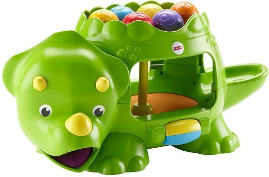 Развивающая игрушка Fisher Price Динозавр с шариками DHW03 fisher price развивающая игрушка тигренок с прыгающими шариками