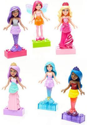 Конструктор MEGA BLOKS Барби: набор фигурок персонажей 6 элементов танцующее пианино mega bloks