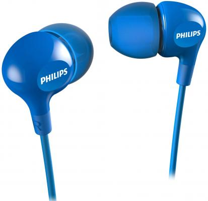 Наушники Philips SHE3550 синий philips e103 black