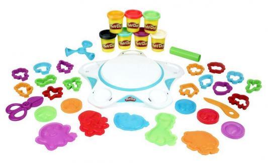 Набор для лепки HASBRO Play-Doh «СОЗДАЙ МИР» СТУДИЯ 7 цветов hasbro игровой набор праздничный торт play doh