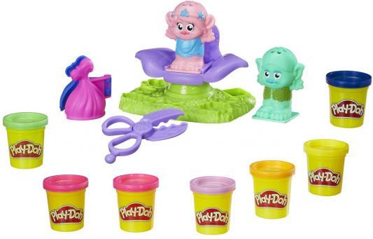 Набор для лепки HASBRO Тролли 7 цветов hasbro play doh игровой набор из 3 цветов цвета в ассортименте с 2 лет