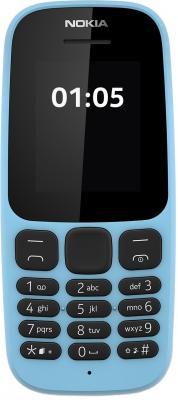 """купить Мобильный телефон NOKIA 105 Dual Sim 2017 голубой 1.8"""" 4 Мб недорого"""