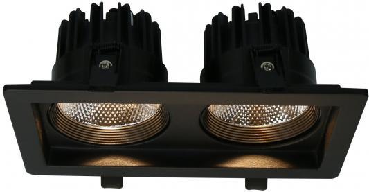 Встраиваемый светодиодный светильник Arte Lamp Privato A7007PL-2BK встраиваемый светильник arte lamp privato a7007pl 1wh