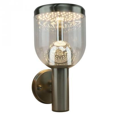 Уличный настенный светодиодный светильник Arte Lamp Inchino A8163AL-1SS светильник уличный arte lamp a8262pa 1ss