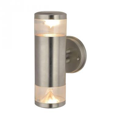 Уличный настенный светильник Arte Lamp Intrigo A8161AL-2SS уличный настенный светильник arte lamp intrigo a8161al 1ss