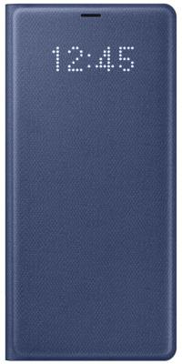 Чехол (флип-кейс) Samsung для Samsung Galaxy Note 8 LED View Cover темно-синий (EF-NN950PNEGRU) чехол клип кейс samsung protective standing cover great для samsung galaxy note 8 темно синий [ef rn950cnegru]