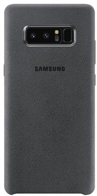 Чехол (клип-кейс) Samsung для Samsung Galaxy Note 8 Alcantara Cover Great темно-серый (EF-XN950AJEGRU) protective flip open pu leather pc case cover w window for samsung galaxy note 4 black