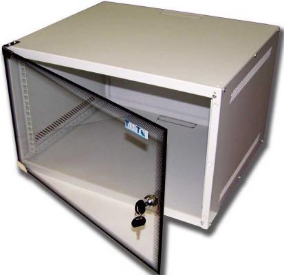 Шкаф настенный 6U Lanmaster TWT-CBWL-6U-6x4 520x450mm стеклянная дверь шкаф коммутационный lanmaster next twt cbwng 6u 6x4 bk 6u 550x450мм пер дв стекл 60кг черный