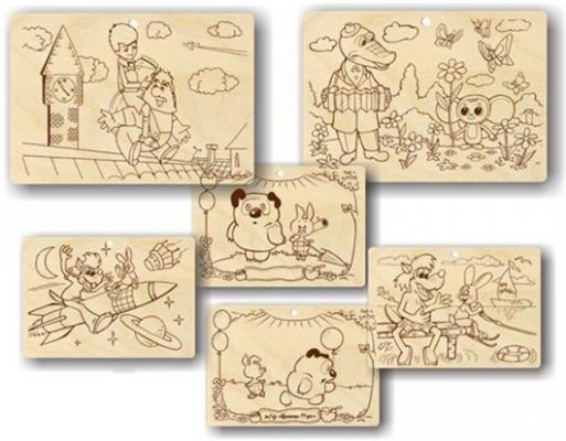 Набор для выжигания Пелси Мультфильмы, 3 картинки от 8 лет в ассортименте от 123.ru