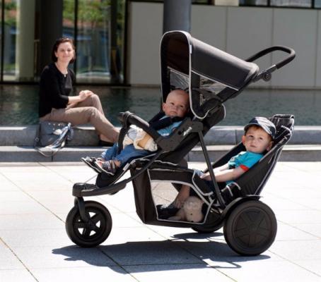 Прогулочная коляска для двоих детей Hauck Freerider SH-12 (black)