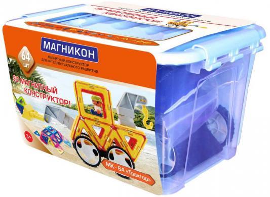 """Конструктор 3D Магникон """"Трактор"""" 64 элемента от 123.ru"""
