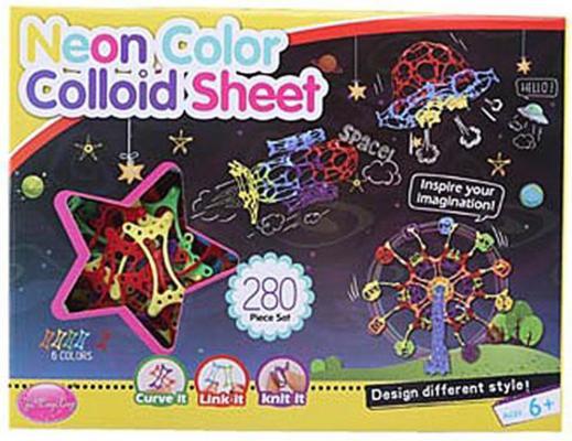 Купить Конструктор Shantou Gepai Неоновый цвет 280 элементов, Пластмассовые конструкторы