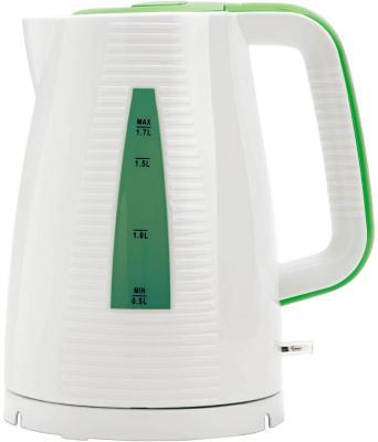 Чайник Polaris PWK 1743С 2200 Вт белый зелёный 1.7 л стекло