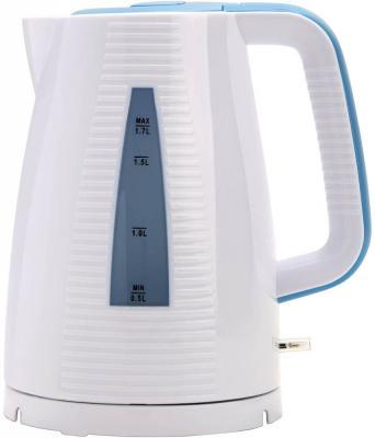 Чайник Polaris PWK 1743C 2200 Вт белый голубой 1.7 л стекло