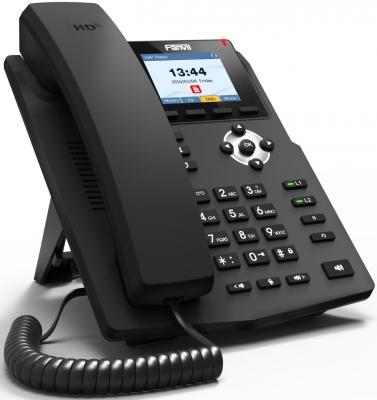 Телефон IP Fanvil X3G 2 линии 2x10/100/1000Mbps цветной LCD
