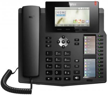 Телефон IP Fanvil X6 6 линий 2x10/100/1000Mbps LCD SIP PoE черный телефон ip grandstream gxp1628 2 линии 2 sip аккаунта 2x10 100 1000mbps lcd poe blf неисправное оборудование