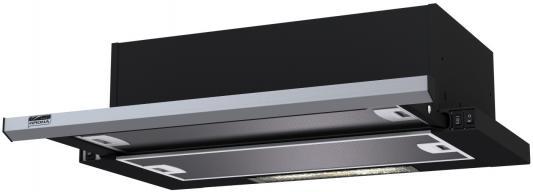 Вытяжка встраиваемая Krona Kamilla 600 slim черный/нержавеющая сталь вытяжка встраиваемая krona ameli 600 s нержавеющая сталь управление сенсорное 1 мотор [21460]