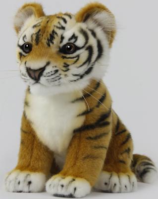 Мягкая игрушка тигр Hansa Детеныш амурского тигра искусственный мех 26 см 7296 hansa мягкая игрушка верблюд