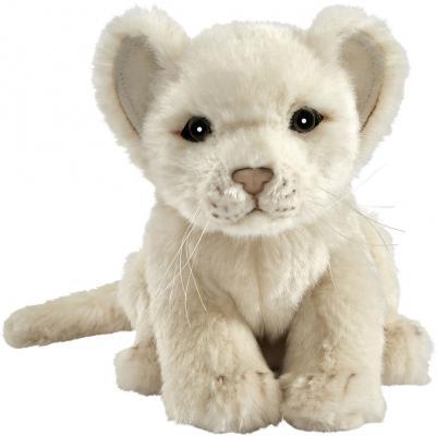 Мягкая игрушка львенок Hansa Львенок 7291 искусственный мех пластик текстиль белый 17 см мягкая игрушка собака hansa собака породы бишон фризе искусственный мех белый 30 см 6317