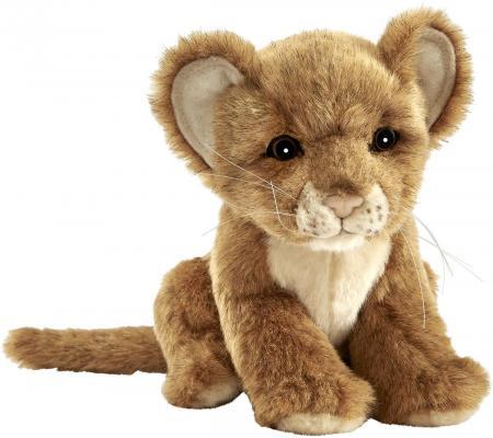 Купить Мягкая игрушка львенок Hansa Львенок 7290 искусственный мех пластик коричневый 17 см, искусственный мех, пластик, Животные