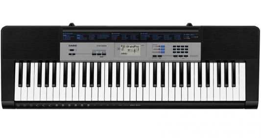 лучшая цена Синтезатор Casio CTK-1550 61 клавиша USB черный