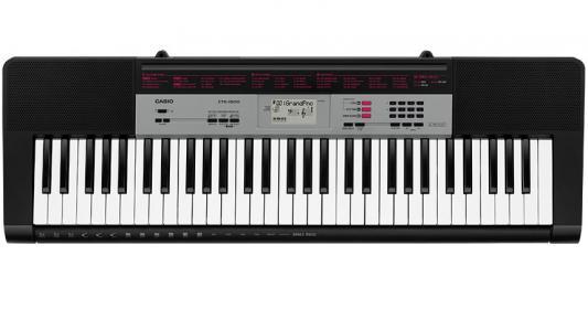 лучшая цена Синтезатор Casio CTK-1500 61 клавиша USB черный