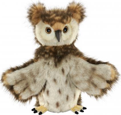 Мягкая игрушка сова Hansa на руку искусственный мех коричневый 34 см 7159 hansa мягкая игрушка сова