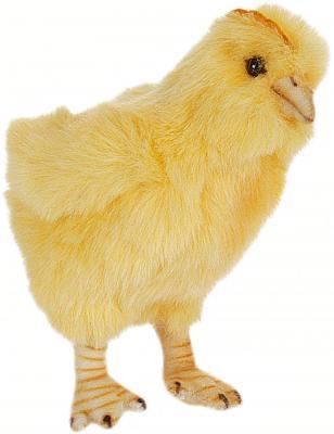 Купить Мягкая игрушка цыпленок Hansa 5378 искусственный мех желтый 12 см, Животные