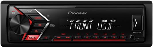 Автомагнитола Pioneer MVH-S100UB USB MP3 FM RDS 1DIN 4x50Вт черный