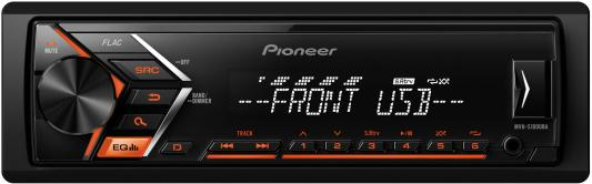 Автомагнитола Pioneer MVH-S100UBA USB MP3 FM RDS 1DIN 4x50Вт черный автомагнитола kenwood kmm 103ry usb mp3 fm rds 1din 4х50вт черный