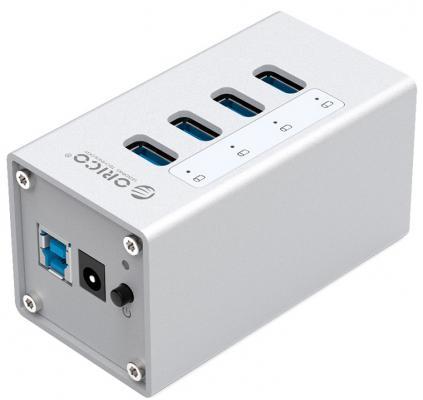 Концентратор USB 3.0 Orico A3H4-SV 4 х USB 3.0 серебристый цена 2017