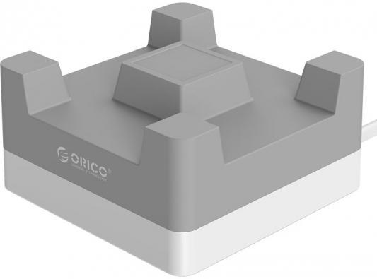 Сетевое зарядное устройство Orico CHA-4U-EU-GY 4 x USB 2.4А серый люстра потолочная colosseo ticino 10147 2