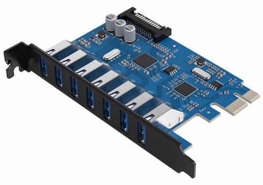 Контроллер PCI-E Orico PVU3-7U 7xUSB 3.0 контроллер pci e orico pvu3 2o2i 2xusb 3 0