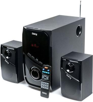 Колонки Dialog AP-225 2x15 + 30 Вт черный колонки dialog disco ad 07 2x12вт вишневый