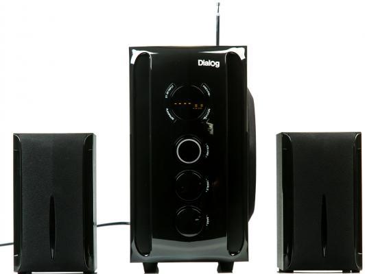 Колонки Dialog AP-209 2x15 + 30 Вт черный колонки dialog disco ad 07 2x12вт черный